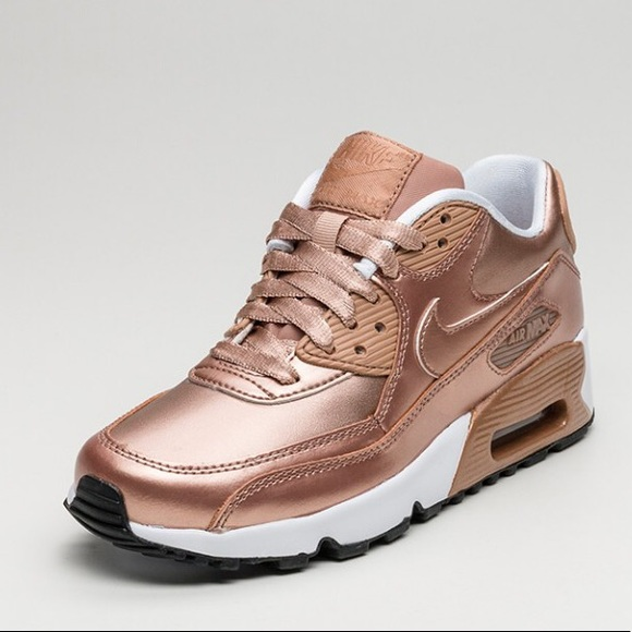 NIKE AIR MAX 90 SE LTR ROSE GOLD SHOES